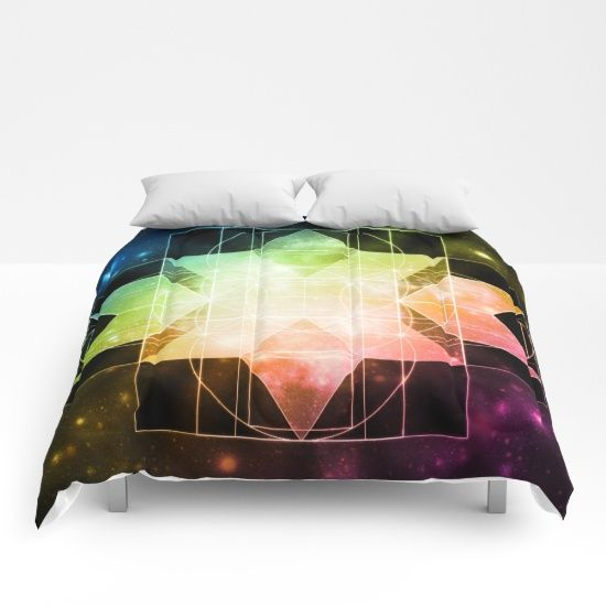 Our comforters are cozy, lightweight pieces of sleep heaven. Designs are printed onto 100% microfiber polyester fabric for brilliant images and a soft, premium touch. Lined with fluffy polyfill and available in king, queen and full sizes. Machine washable with cold water gentle cycle and mild detergent. #comforter #bedding #2sweet4wordsDesigns #society6 #society6comforter #prettycomforter #coolcomforter #bedroomdecor #dormdecor #rainbowcomforter #rainbowdecor