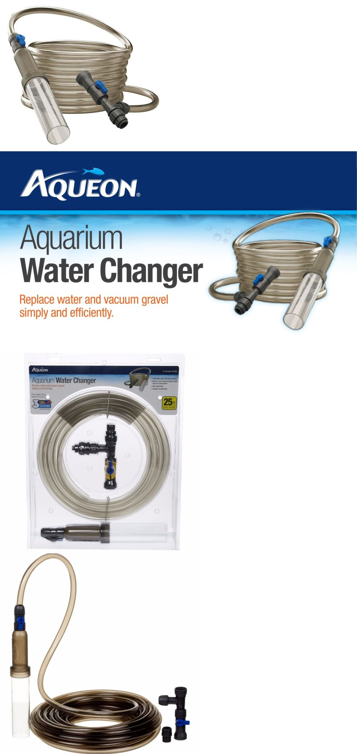 Cleaning and Maintenance 148983: Aquarium Water Changer 25 Feet Hose ...