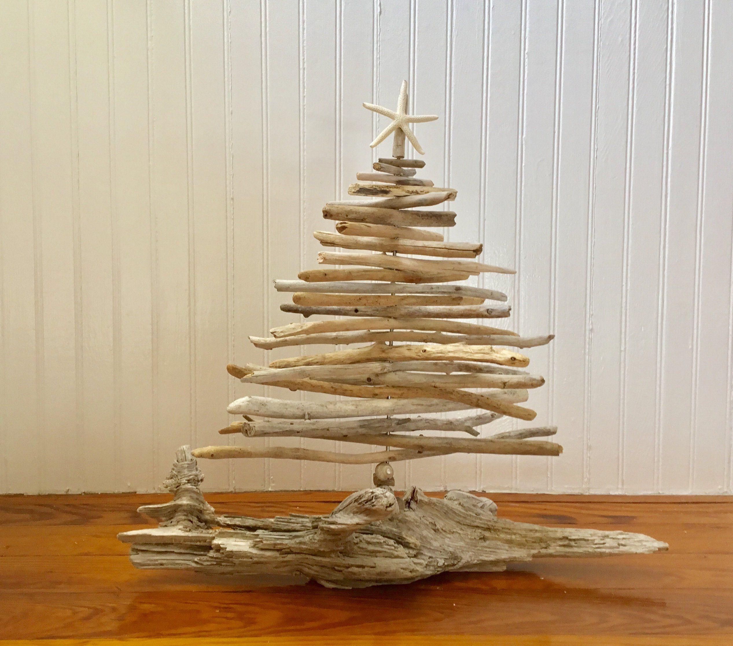 "Driftwood Tree 17"" - Driftwood Christmas Tree -Tabletop Tree - Beach ..."