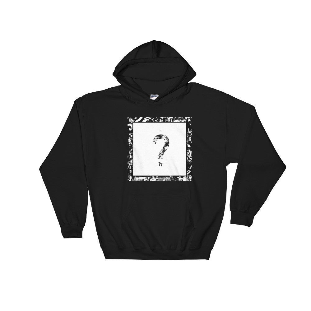 7be4f94a372 XXXTentacion Question Mark Hoodie Sweatshirt Hip Hop Rap merch 17 Revenge  RIP