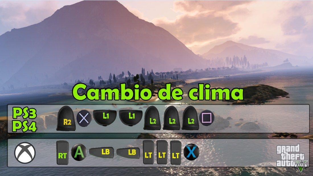 Cambio De Clima Gta 5 Trucos De Gta 5 Trucos De Gta Trucos Gta V