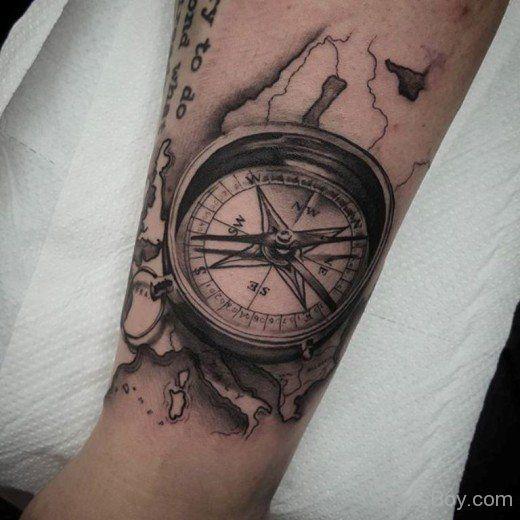 Compass Tattoo Design-TB118 | Tony | Pinterest | Compass tattoo ...
