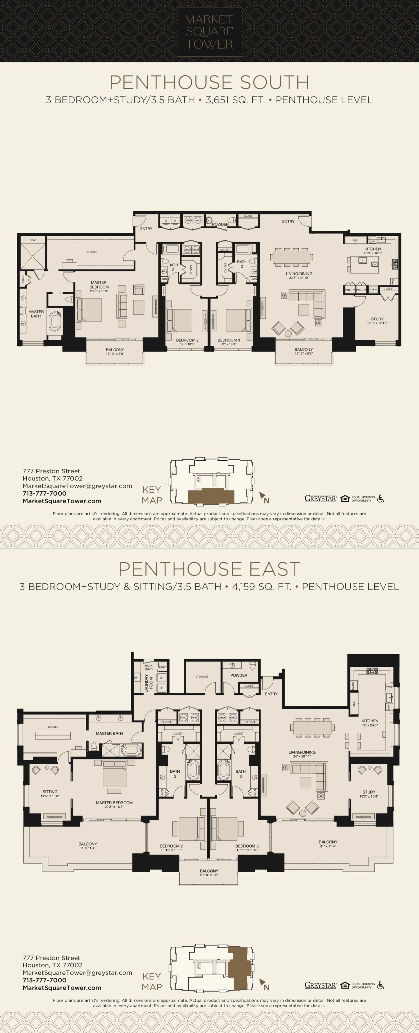 Can You Get An Apartment At 18 In Texas Market Square Tower Houston Penthouse Penthouse Apartment Floor Plan Condominium Floor Plan Apartment Floor Plans