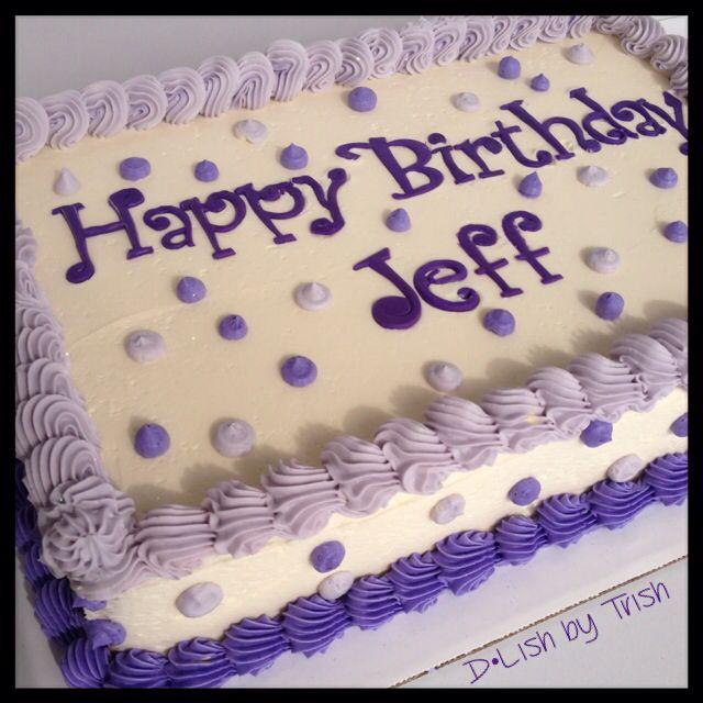Buttercream Birthday Sheet Cake cake decorating ...