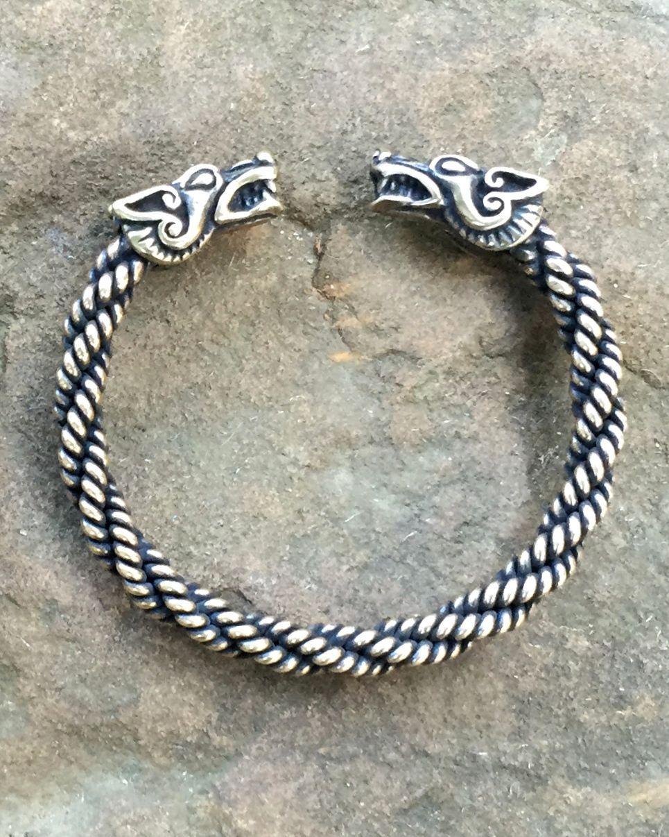 Light Braid Wolf Bracelet Viking Arm Rings Celtic Sleeve