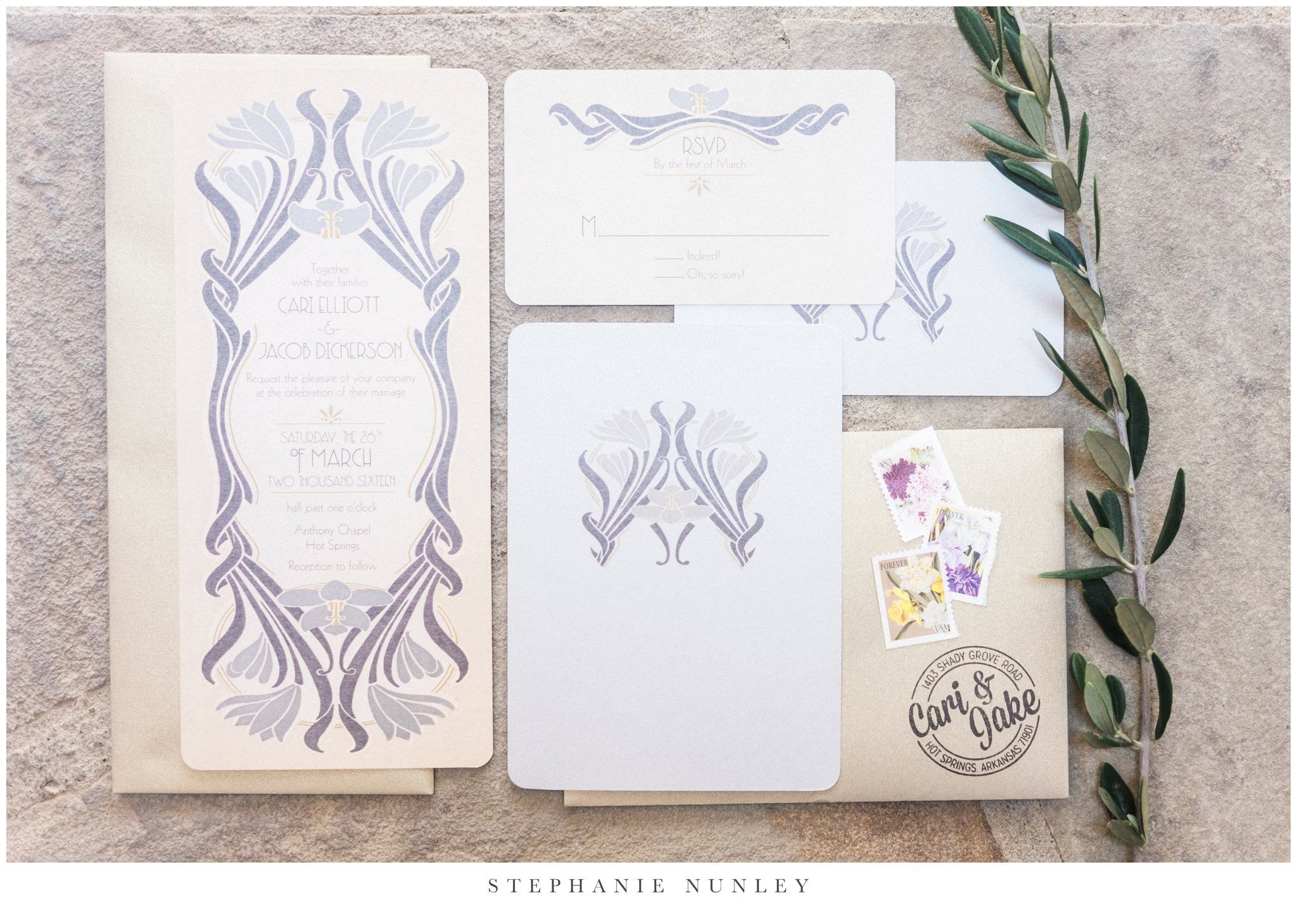An Art Deco Inspired Wedding   Invitation suite, Themed weddings and ...