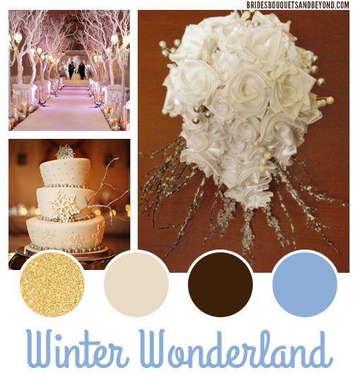 Winter Wonderland Wedding Color Scheme by BridesBouquetsandBeyond ...