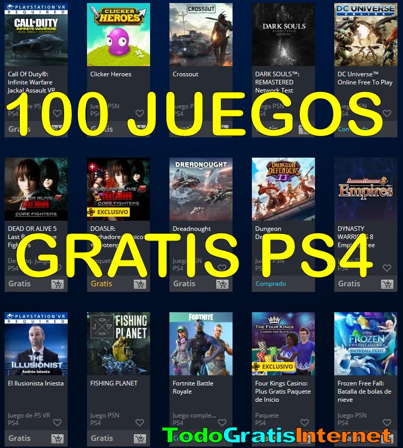 Para Tu Ps4 100 Juegos Gratis Sin Ser De Playstation Plus Ps4 Juegos Ps4 Juegos
