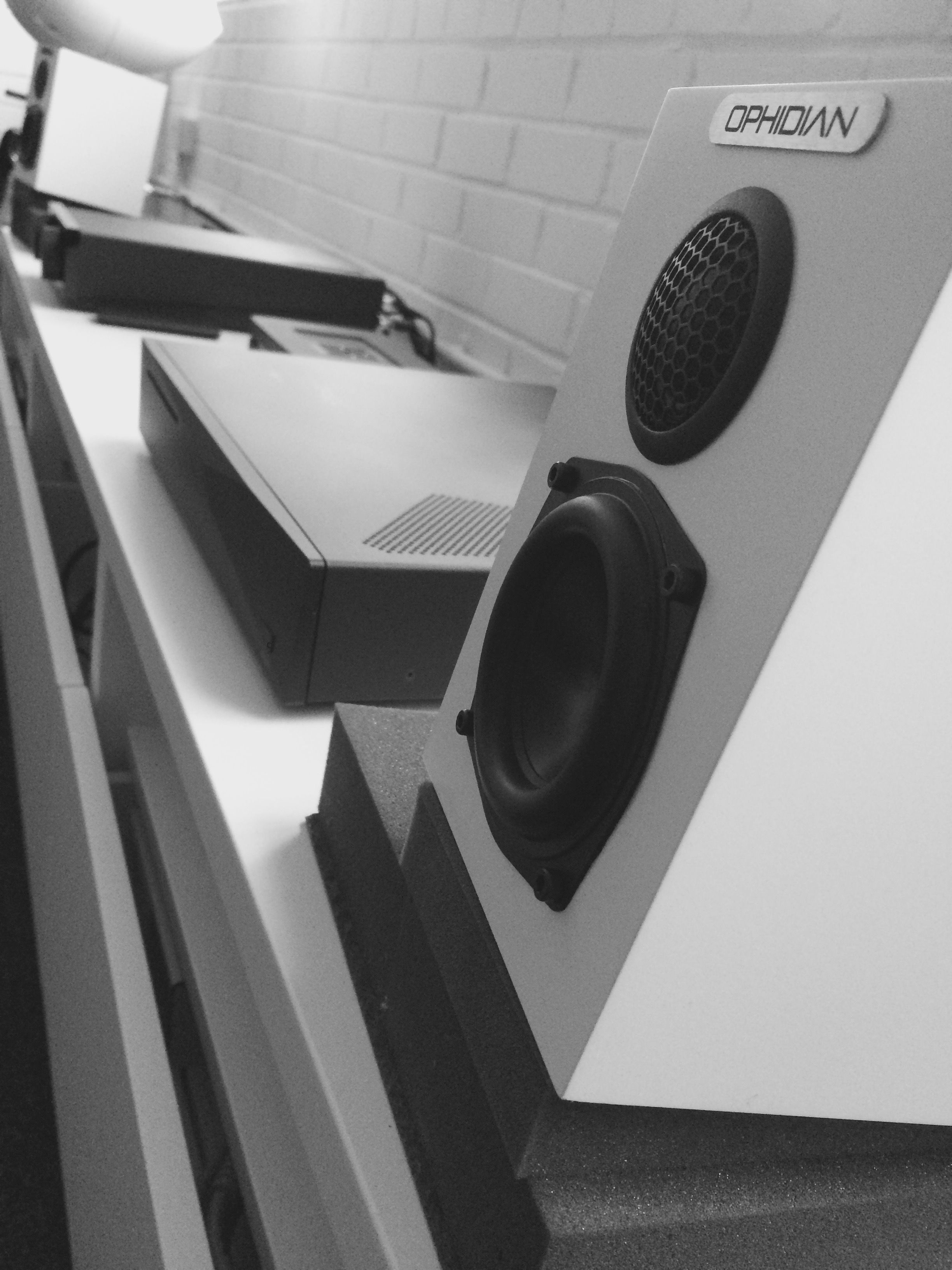 Ophidian Minimo loudspeakers, alongside the Innuos ZENith