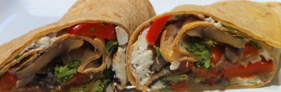 Roast Vegetables and Make a Veggie Sandwich Wrap