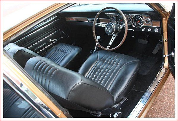 Gt Interior Interior Of Mine Will Be Based Off This With A Bench Seat Trimmed To Resemble The Bucket Seats Ford Falcon Unique Cars Classic Car Photography