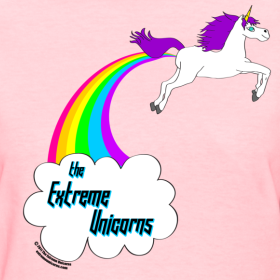 Rainbow Farting Unicorn Women S T Shirt Unicorn Tee Womens