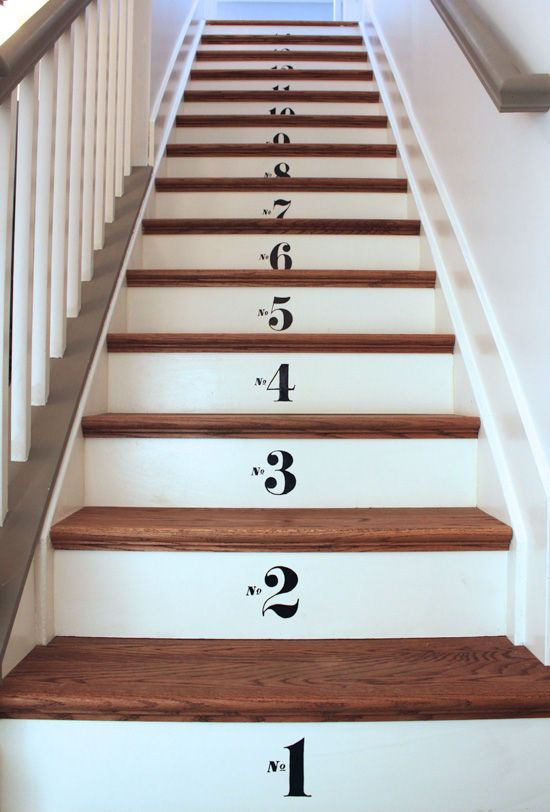 Easy Numbered Basement Stairs Remodel   Come See How I Took It From Gross  Carpet To This In Under A Week.