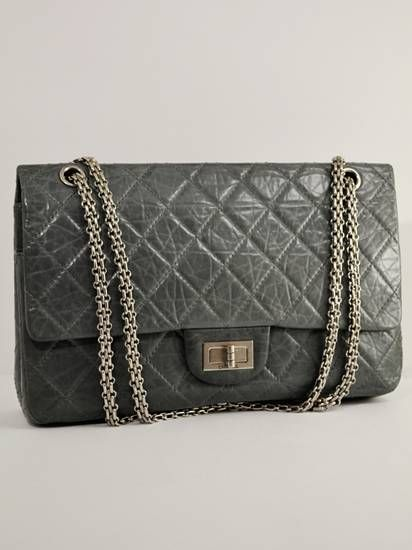 d08c8aeb5d8d Chanel Grey Quilted 2.55 Reissue Anniversary Tote with Ruthenium Hardware