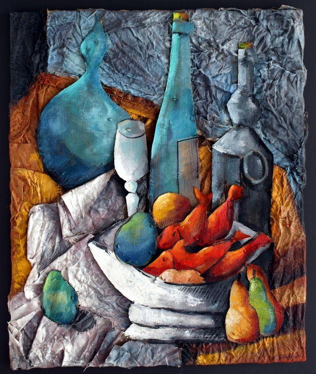 """Saatchi Art Artist: Ximo Gascón; Oil Painting """"D'Après Picasso ( Fruiter )"""""""
