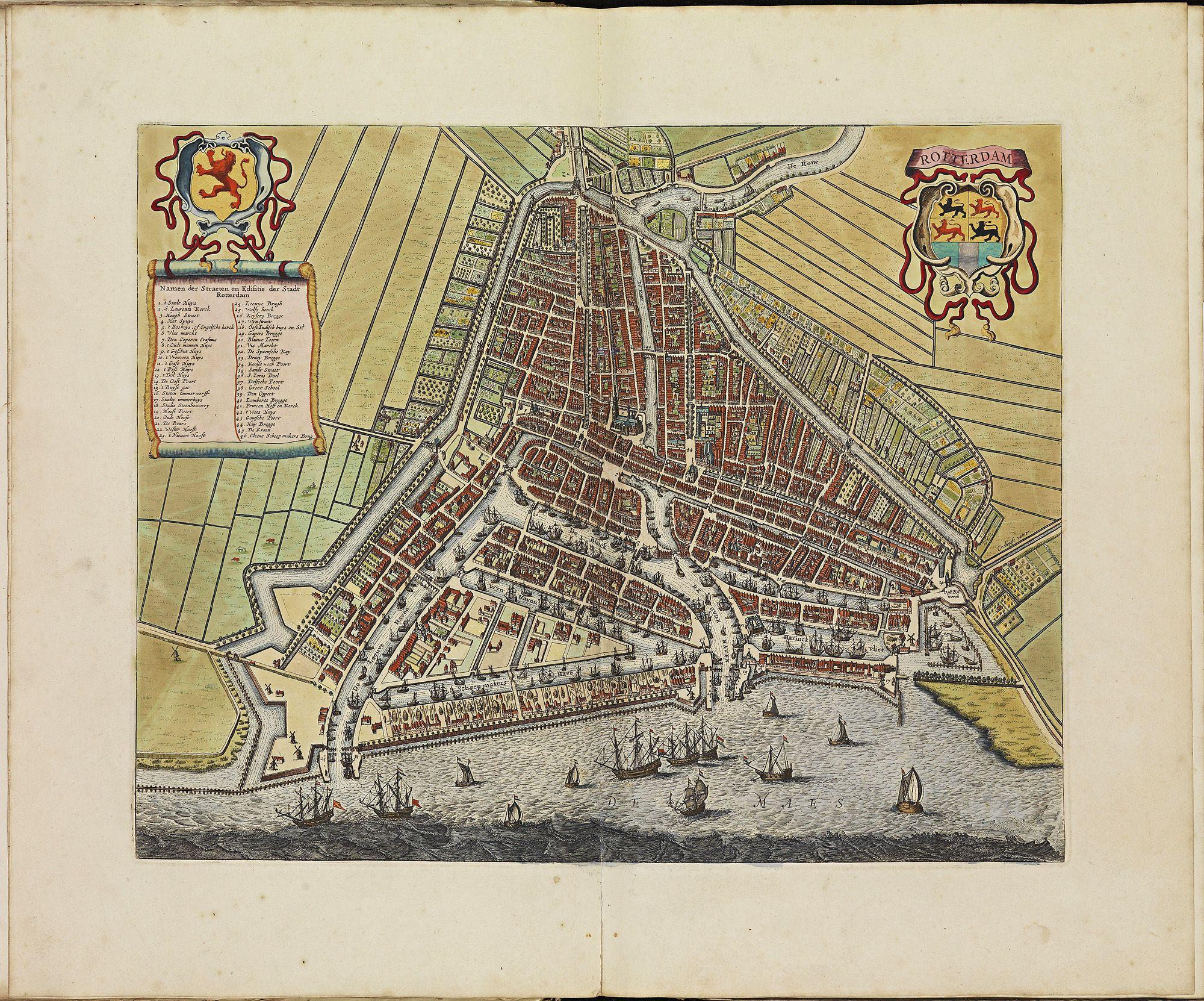 ROTTERDAM Atlas De Wit Historical MapsIllustrated MapsAntique