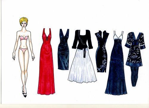 011 - My author paper doll Evelyn in her 158  outfits of 24 sheets of A-4 format