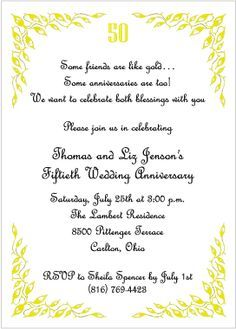 50th anniversary quotes for invitations Google Search 50