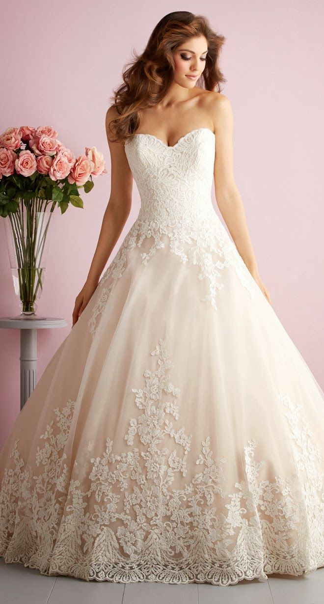 Allure romance spring bridal collection wedding dresses lace