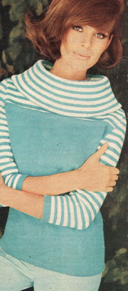 Vintage Knitting Pattern Instructions To Make A Ladies Jumper Retro