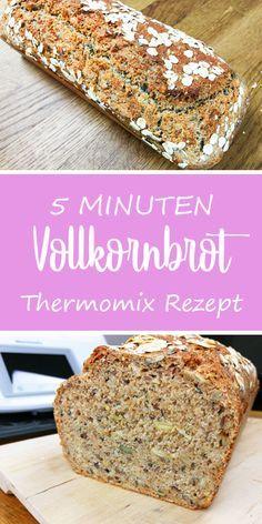 Das schnellste Vollkornbrot der Welt - dieHexenküche.de |  Rezeptideen für den Thermomix TM5 #blog