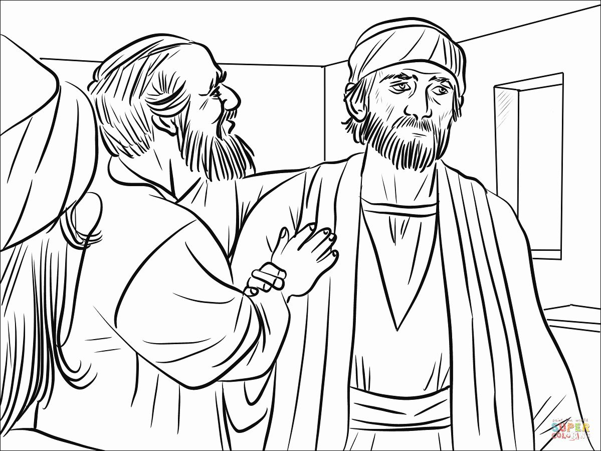 29 Saul S Conversion Coloring Page