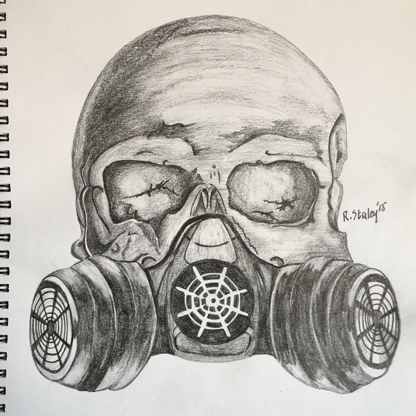 ww2 gas mask on skull artcrafts in 2019 gas mask
