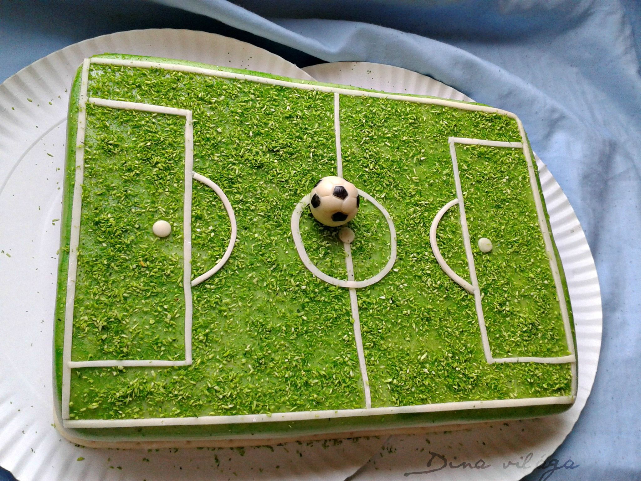 Soccer Field Cake With Images Soccer Birthday Cakes Soccer