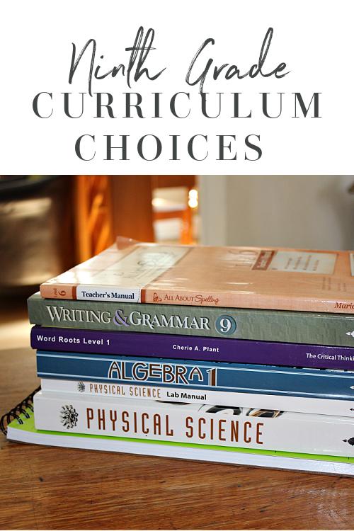 9th Grade Homeschool Curriculum Choices 2020 in 2020