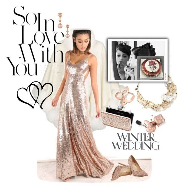 """""""Winter Wedding"""" by andrea-pok ❤ liked on Polyvore featuring Harrods, LE VIAN, Head Over Heels by Dune, Erickson Beamon, Miss Selfridge, Michael Kors and winterwedding"""