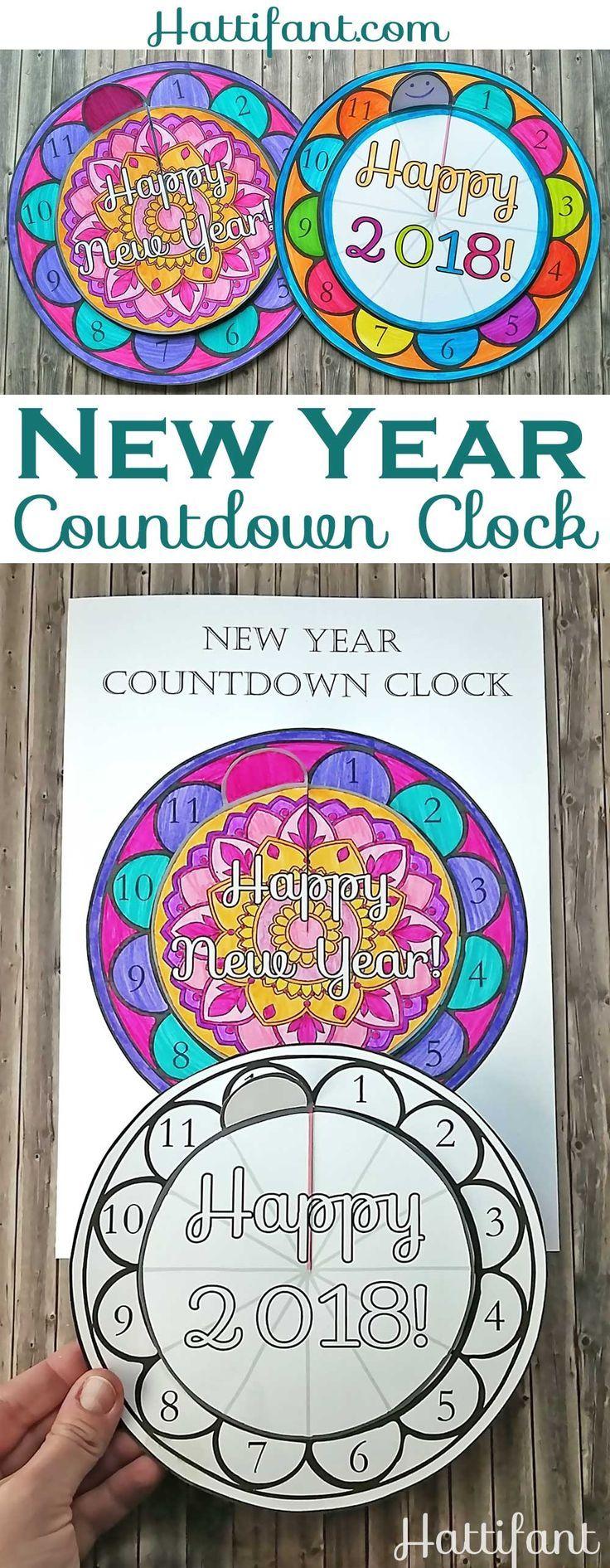 NEW YEAR New years countdown, Countdown clock, Clock craft