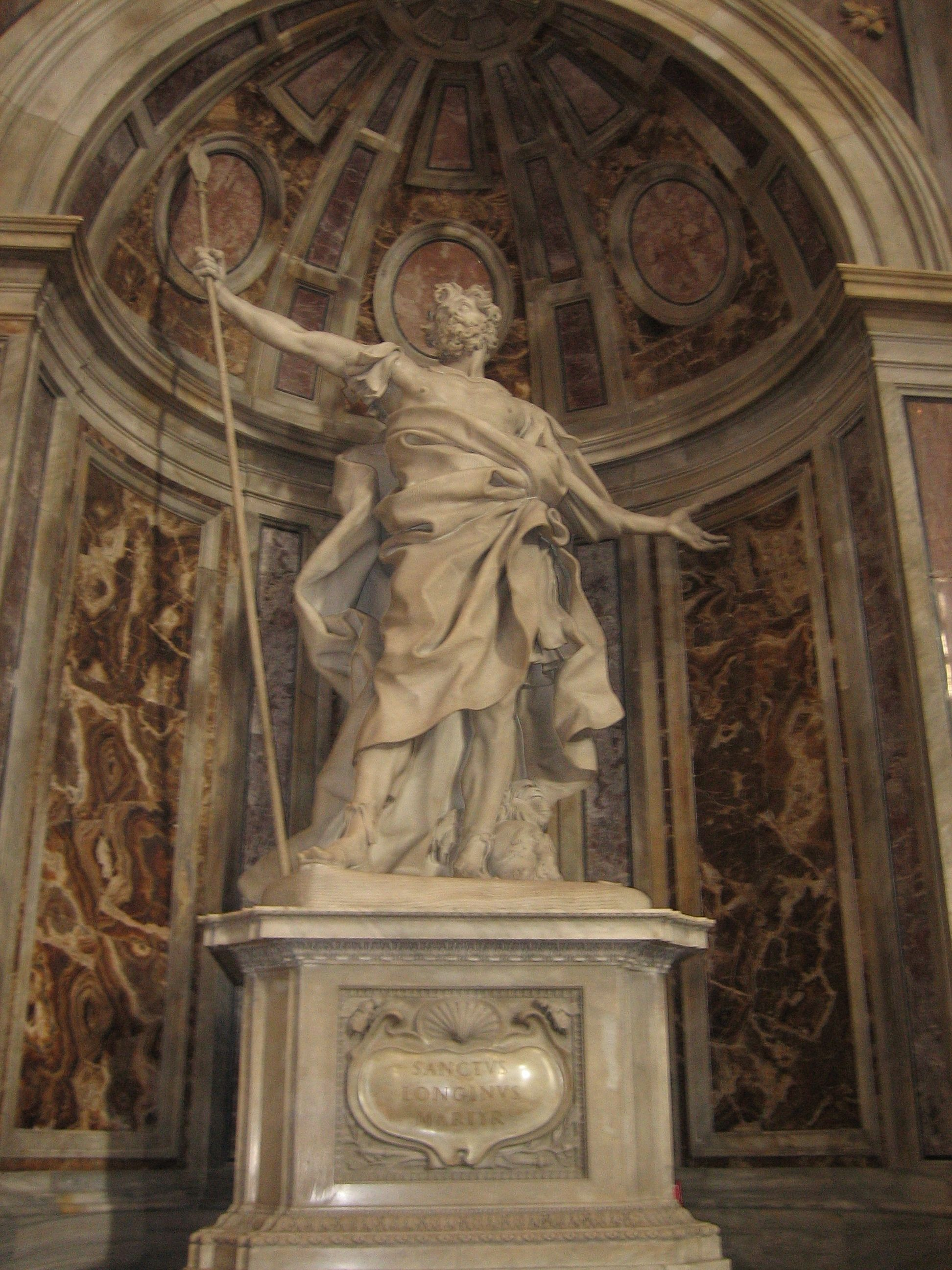 S._LONGINO, 1638, located  in the niche of St Peter's in the Vatican City