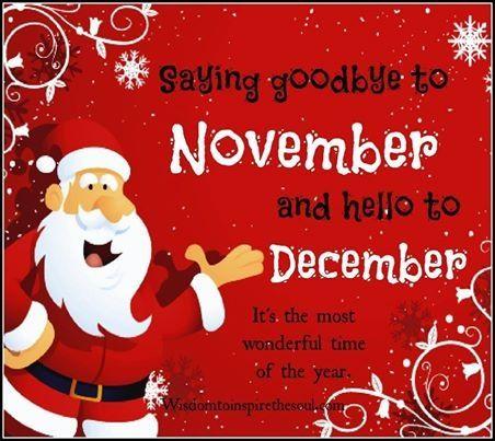 Goodbye November Hello December Goodbye November Hello December