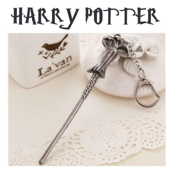 """2 For $25⚡️LORD VOLDEMORT WAND KEYRING ⚡LORD VOLDEMORT WAND ~ Approx 4 1/2"""" long ~ Alloy Metal ~ Multiples available Trades or Holds ✅ Use offer option ❤️ Bundles Accessories Key & Card Holders"""