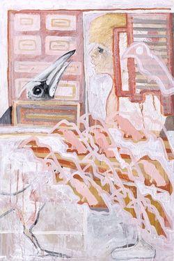 Saatchi Online Artist Laurel Gallagher; Painting, Magpie collects children #art