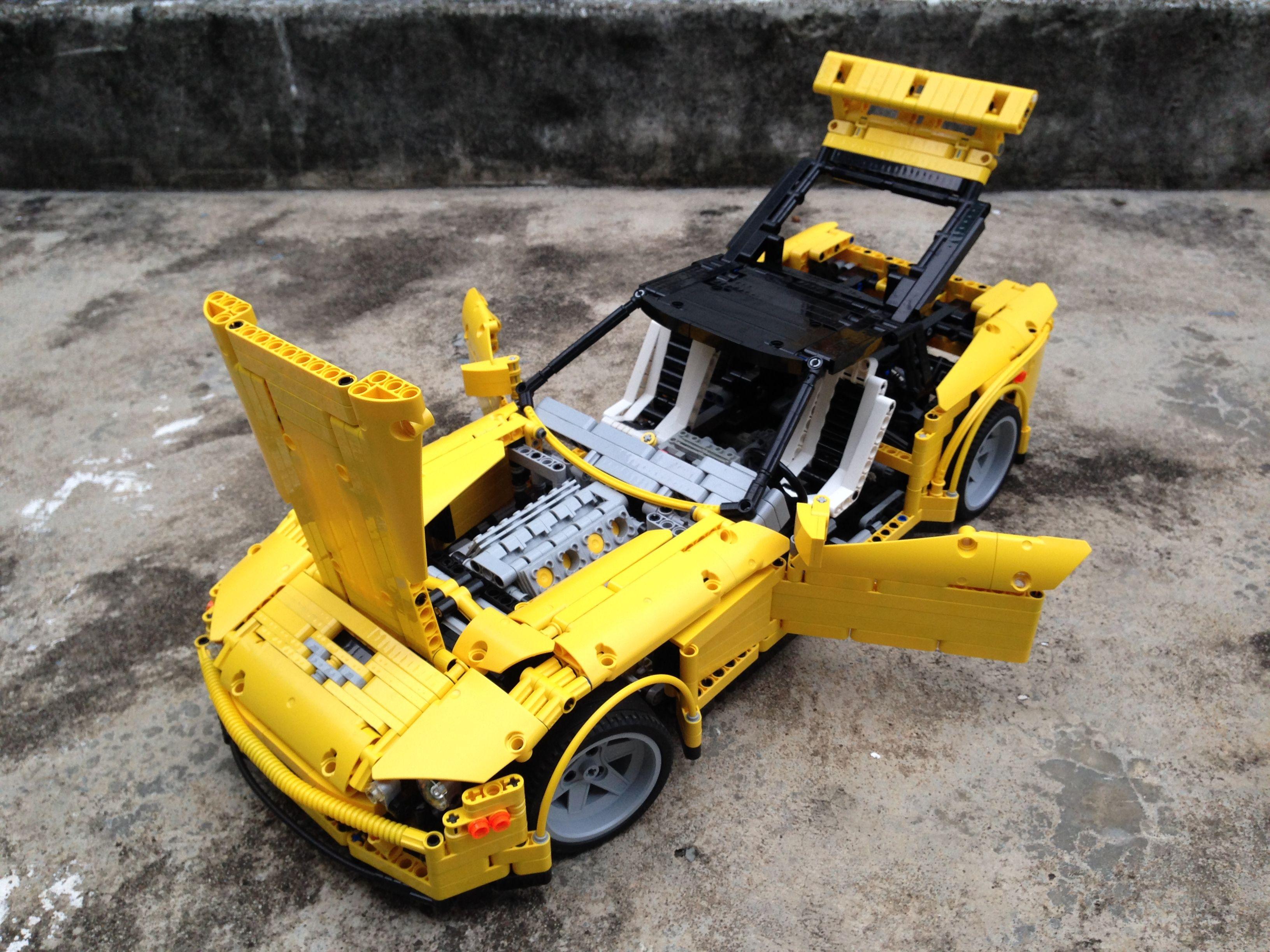 Black Top Yellow Corvette Lego technic, Lego toys, Best