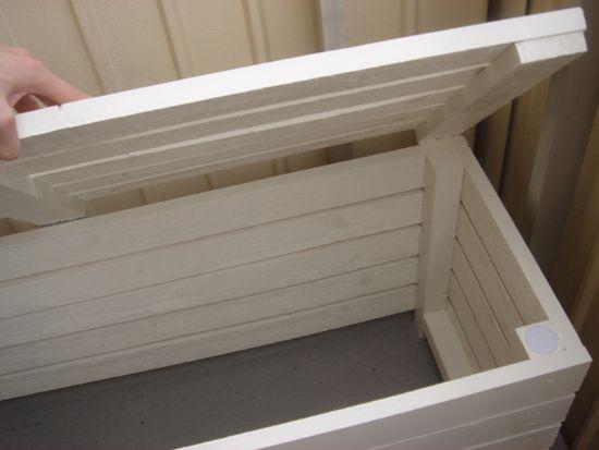 platsbyggd bänk ritning ~ joppes gröna rum  balkongbänk och balkonglådor  bench