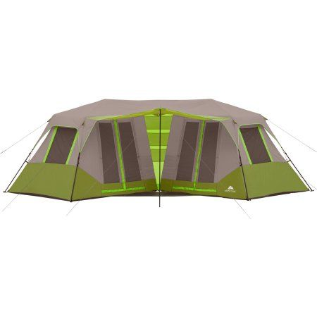 Ozark Trail 8 Person Instant Double Villa Cabin Tent Walmart Com Cabin Tent Best Tents For Camping Family Tent Camping