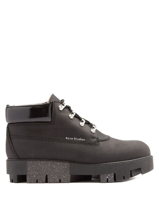 8f195825a1c6 ACNE STUDIOS Tinne Track-Sole Nubuck Ankle Boots.  acnestudios  shoes  boots