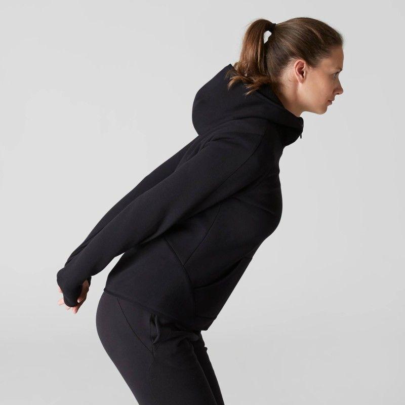 e699d8259c6f GROUPE 1 Gym Stretching - Veste 900 capuche Gym noir DOMYOS - Vêtements  femme