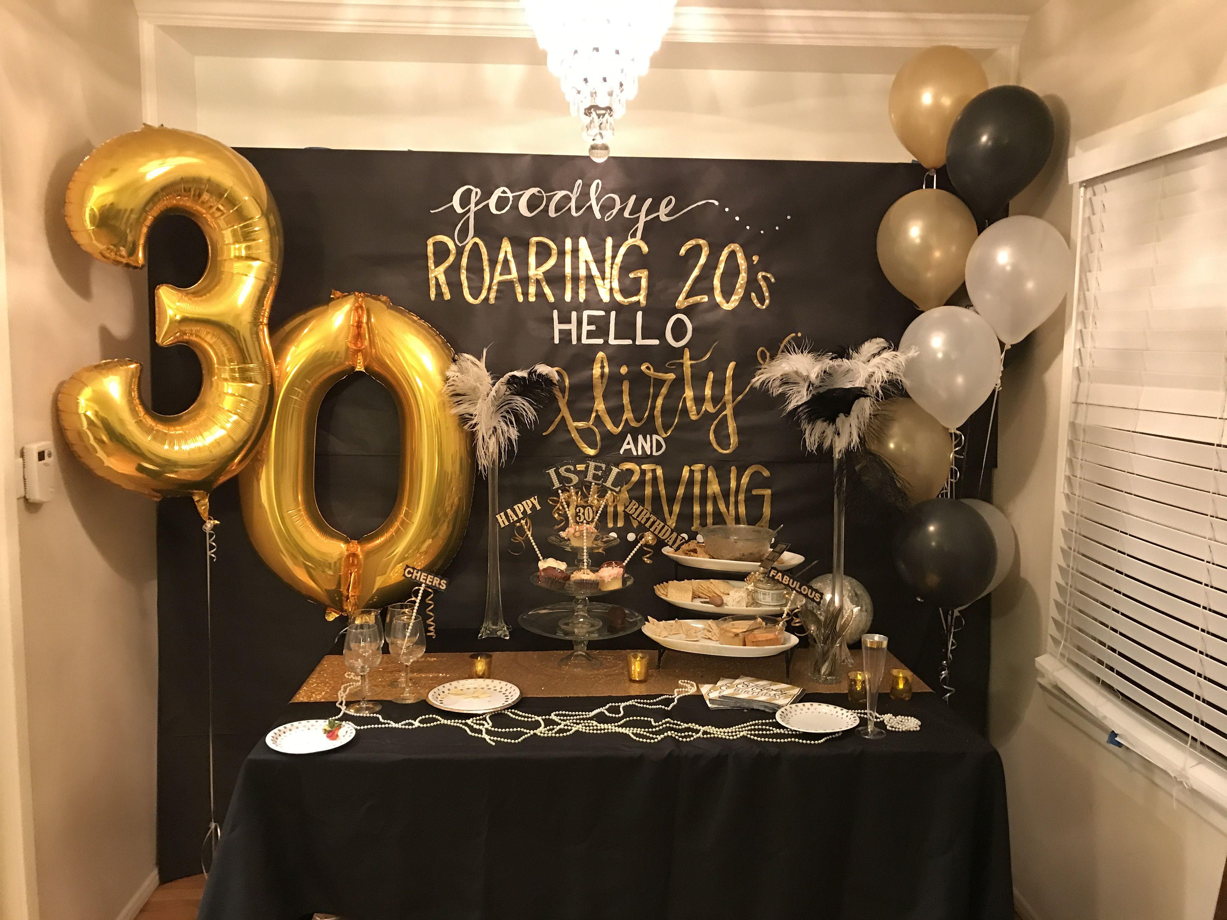 1920 S Themed 30th Birthday Decor 30th Birthday Decorations 30th Birthday Hello 30 Birthday