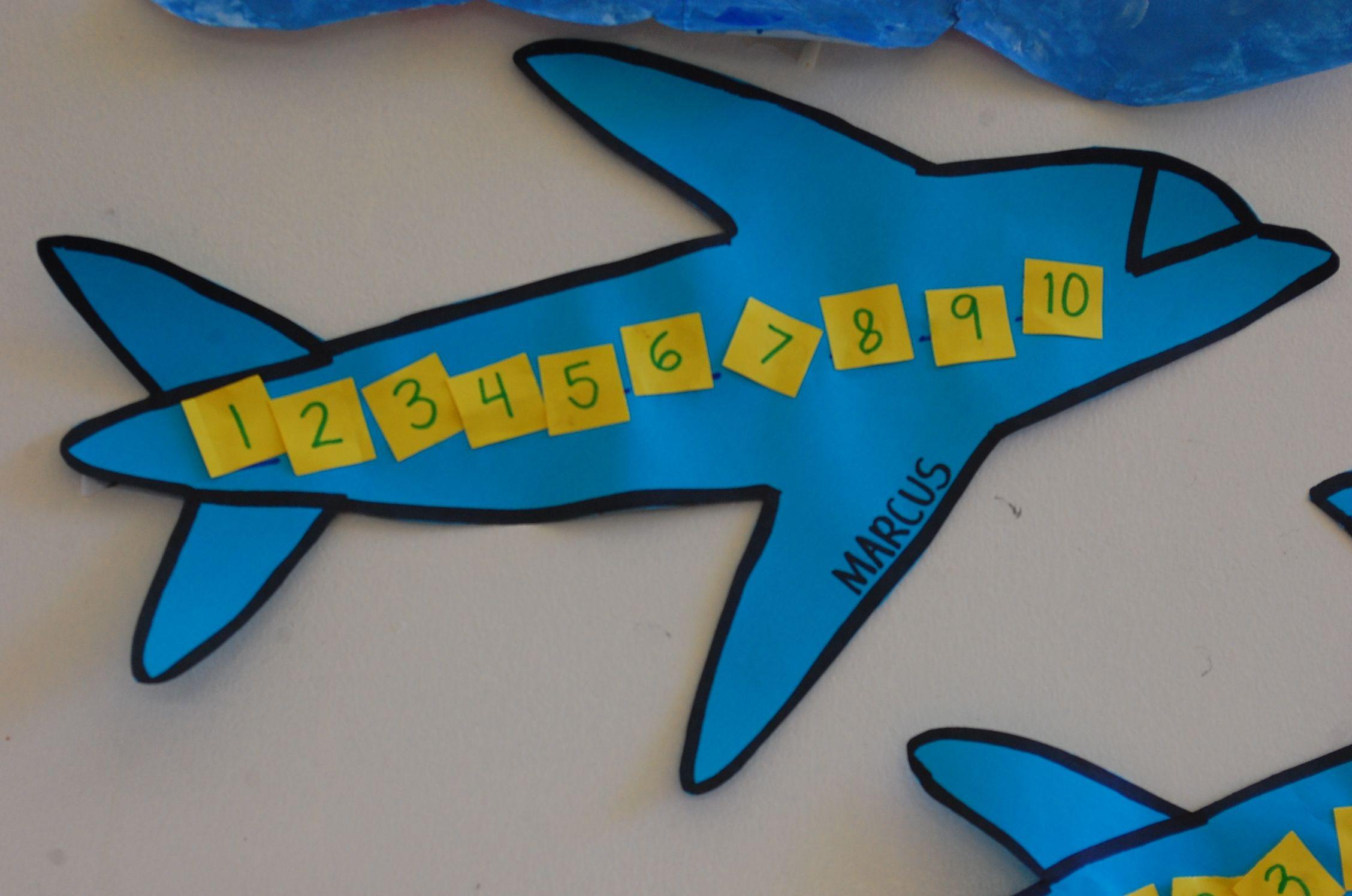 Airplane Art Math Preschool Classroom