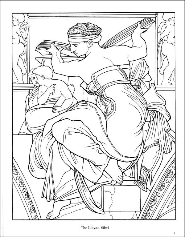 Michelangelo Coloring Page Coloring Books Coloring Pages Sistine Chapel