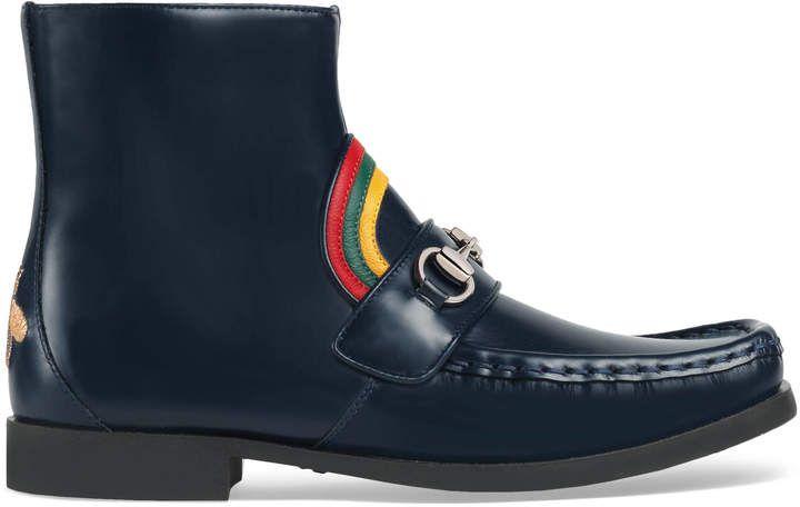 559584b38b0 Children s rainbow Horsebit leather boot in 2018