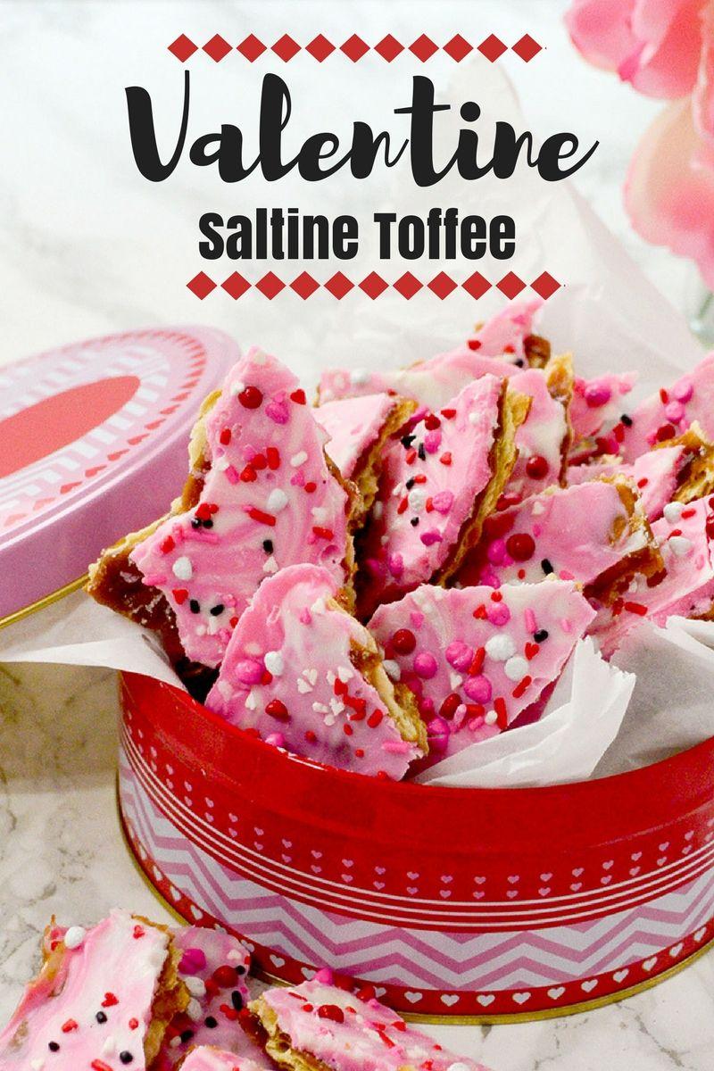 Photo of Valentine Saltine Toffee – Pink Cake Plate