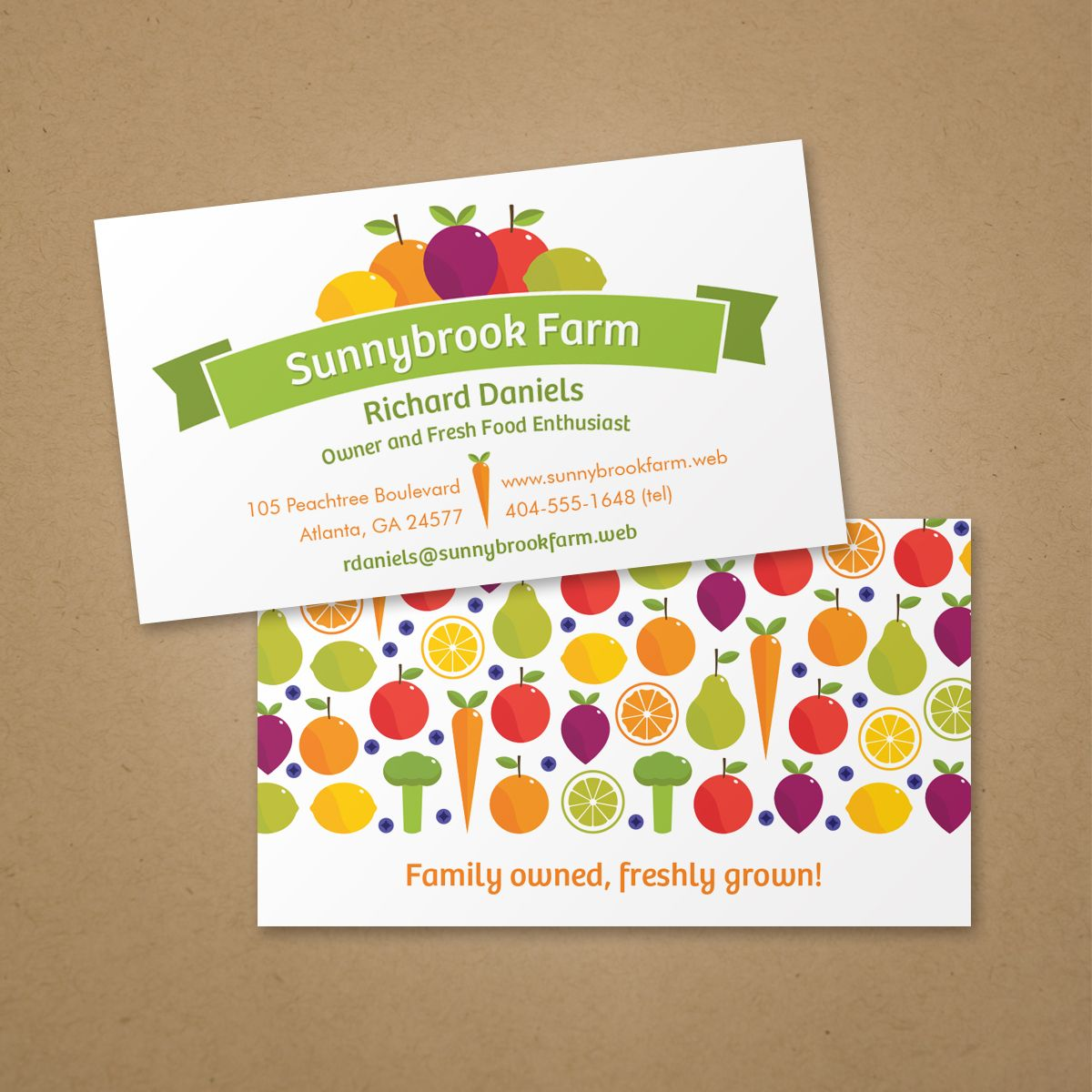 Fruit and veggie business card vistaprint business card ideas fruit and veggie business card vistaprint reheart Choice Image
