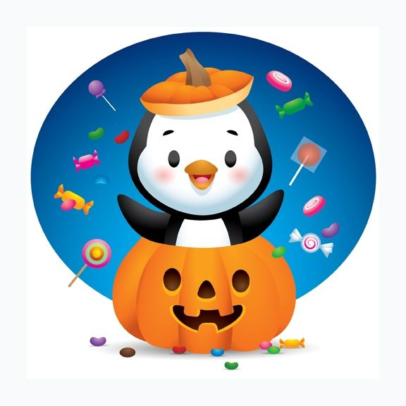 Halloween Stickers : I was hired by FACEBOOK to create this set of Halloween  stickers as