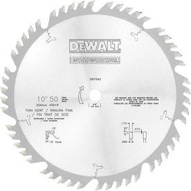 Dewalt 10 In 50 Tooth Standard Carbide Circular Saw Blade Dw7640 Circular Saw Blades Blade