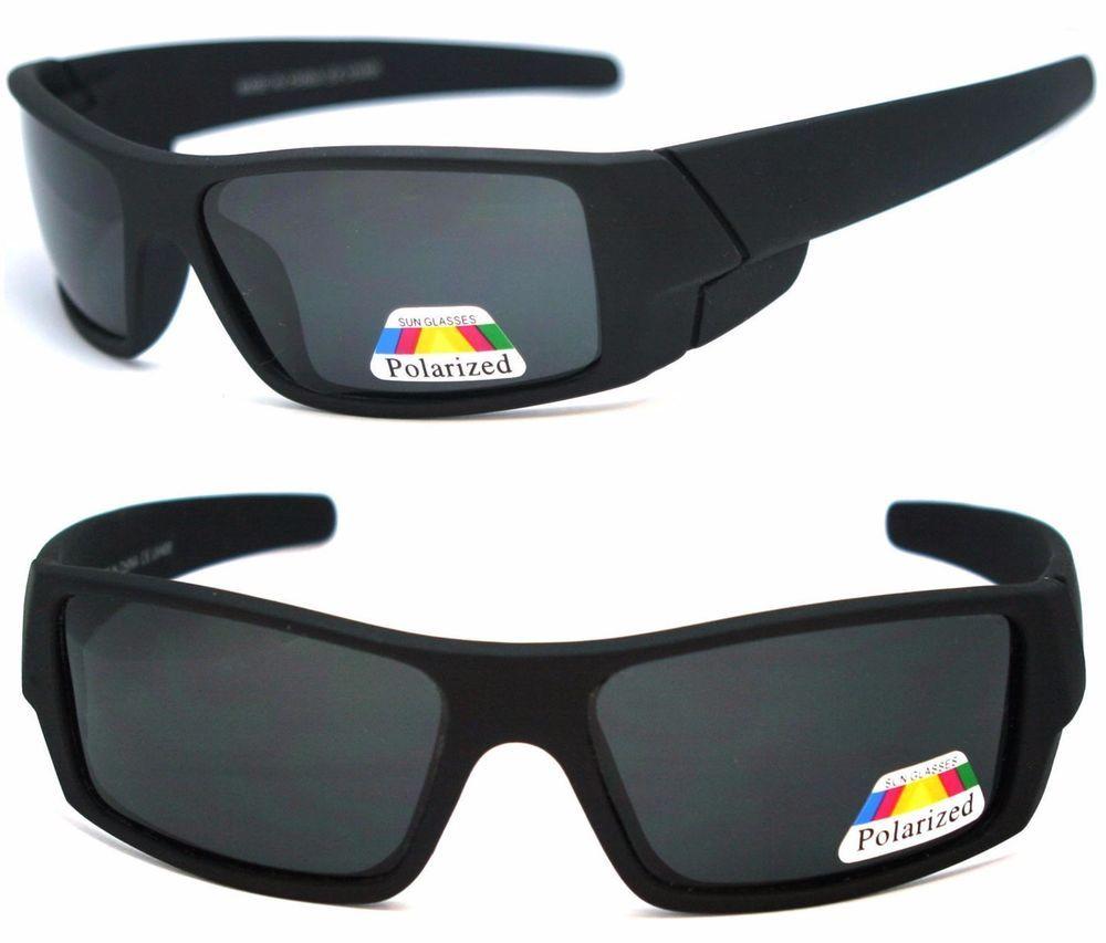 Mens POLARIZED Lens GASCAN Wrap Sunglasses Sports Soft