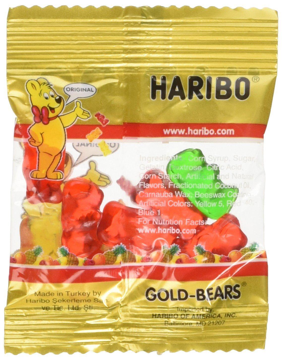 Amazon com : Haribo Gummy Candy - Mini Gold Bears 100 Count